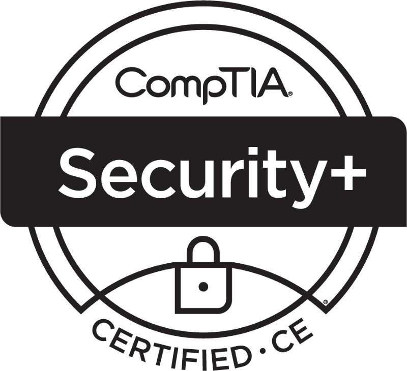 SecurityPlus Logo Certified CE Black